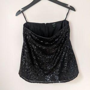 J Crew Sequin Mini Skirt